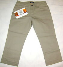 ARCTERYX Khaki COTTON Cropped CAPRI Hike OUTDOOR PANTS Jeans WOMENS size 6 SMALL