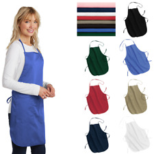 A520 Full-Length Apron Adjustable Length Pockets Uniform Restaurant Food Service