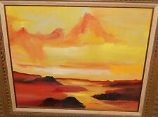 JOHN PLUMER LUDLUM ORIGINAL OIL ON CANVAS SUNSET DESERT LANDSCAPE PAINTING