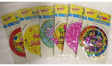 12 Pack Self Inflating Greeting Balloons Birthday Congrats Get Well Love & More