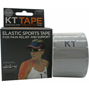 """KT Tape Cotton 10"""" Precut Kinesiology Therapeutic Elastic Sports Roll, 20 Strips"""