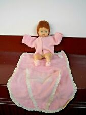 14 Inch Horsman Soft Vinyl and Fabric Baby Doll & Blanket