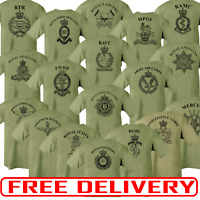 Double Sided Printed Army Olive Green Tshirt HM RTR Para REME RGR RAMC RE PWRR