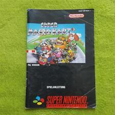 SNES - Super Mariokart Mario Kart Anleitung Manual Booklet
