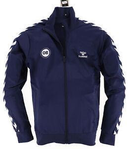 Hummel Herren Sweater Sweat Tracktop Gr.L Odense Boldklub Sweatjacke Navy 110922