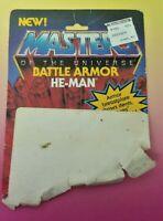 MOTU He Man Battle Armor Masters of the Universe Card Back ONLY Mattel Vintage