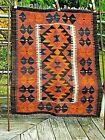 32 x 40 kilim handwoven wool flatweave rug cover hanging