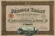 Pétrole Trust sa 1924 Paris 100 francs dekodruck hazzopoulos Paris Puits