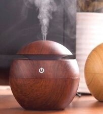 Mini Wooden Aromatherapy Humidifier Aroma Diffuser Essential Oil Color LED