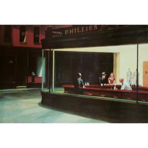 "Nighthawks Poster Edward Hopper 1942 Downtown Diner – 91 x 61 cm 36"" x 24"""