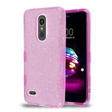 LG K10 K30 Shockproof Hybrid Bling Glitter Rubber Silicone TPU Hard Case Cover