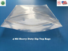 Clear Reclosable Zip Top 4Mil Heavy Duty Lock Bags Poly Plastic 4 Mil Baggies