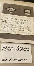 1947 Fly Fishing Flies / Stamp Portfolio By Win Sturtevant Holyoke Stamp Club