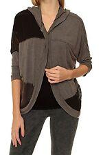 Hüftlange 3/4 Arm Damen-Strickjacken ohne Muster
