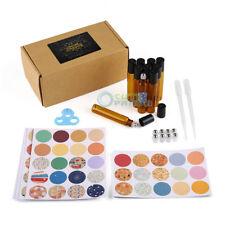 10ml Amber ESSENTIAL OIL BOTTLE Metal Roller Ball Dropper Opener sealing Sticker