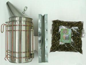 Edelstahl Smoker inkl. 500 g Rauchmittel Imker Rauchbläser Bienenzucht Imkerei
