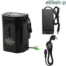 36V 10,4Ah Batteria agli Ioni di Litio + Caricabatteria per Bici Elettriche Nero
