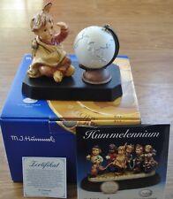 Hummel American Wanderer Figurine #2061 w/Globe, Stand, Box & Hummelennium Cd