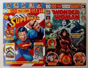 Lot of 2 SUPERMAN + WONDER WOMAN 100 Page GIANT Comic Book GREEN LANTERN METALLO
