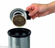 Brabantia Waste Bin For Coffee Pods Tea Bags Matt Steel Small Table Top