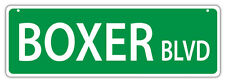 Plastic Street Signs: BOXER BLVD | Dogs, Gifts, Decorations