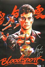 Frank Dux Signed 11x17 Bloodsport Movie Poster PSA/DNA COA Jean-Claude Van Damme