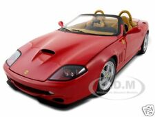 ELITE FERRARI 550 BARCHETTA PININFARINA RED 1:18 MODEL CAR BY HOTWHEELS N2054