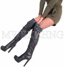 Loriblu Thigh High Overknee Stiletto Boots High Heels EU 39 Italian Womens Shoes