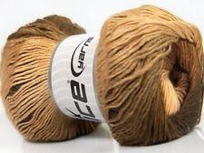 Primadonna Brown Shades Ice 40623 Fine Baby Self-Striping Wool Acrylic Yarn 100g