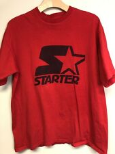 Vintage Starter Original Logo Red Mens T-shirt Sz L