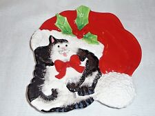 Fitz And Floyd Kitty Claus Canapé Plate