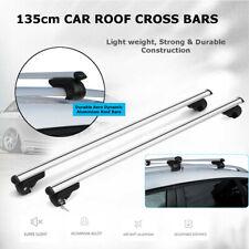 "4.43ft/53"" Universal Car SUV Top Cross Bar Roof Cargo Luggage Rail Rack Silver"