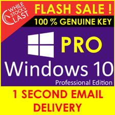 WINDOWS 10 PRO KEY ACTIVATION GENUINE LICENSE 32 /64BIT CODE PC INSTANT DELIVERY