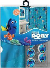 NEW 13pc Disney Finding Nemo Dory Shower Curtain & Hooks Bath Set