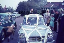35mm COLOUR SLIDE - 1960s or 70s - TRIUMPH HERALD USED AS A WEDDING CAR