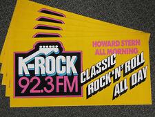 92.3 K-Rock bumper stickers 1988 Howard Stern Bruce Springsteen