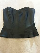 Coast Basque Size Small 10 Or 8 Black Tie Up Back