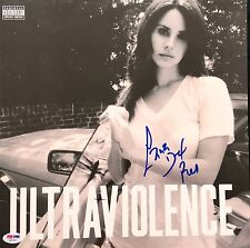 LANA DEL REY AUTOGRAPHED SIGNED ULTRAVIOLENCE PSA/DNA RECORD ALBUM