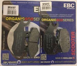 EBC FRONT and REAR Disc Brake Pads Fits SUZUKI UH125 BURGMAN (2014 to 2018)