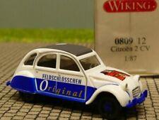 1/87 Wiking Citroen 2 CV Feldschlösschen Original 0809 12