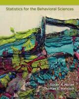 Statistics for the Behavioral Sciences, Susan Nolan, Thomas Heinzen, Good Book