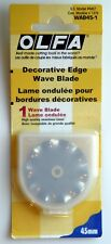 Genuine Olfa Decorative Edge Wave Blade 45mm WAB45-1 Sealed Package