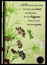 Birthday Dragonflies Flowers Grasses Leaves - Son Greeting Card New W/ Tracking