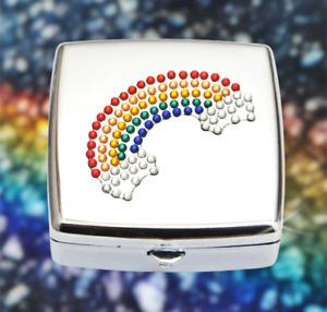 Metal Pill Box Travel / Pocket Ashtray / Keepsakes Removable 2 Compartment Tray