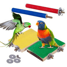 BL_ 4Pcs Pet Bird Parrot Claw Grinding Bar Stick Stand Perch Wood Board Chew Toy