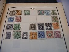 antique chinese stamp  collection