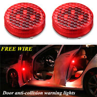 2PCS Universal Car Door LED Opened Warning Flash Light Kit Anti-collid Wireless/