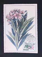 MONACO MK 1959 FLORA BLUMEN OLEANDER MAXIMUMKARTE CARTE MAXIMUM CARD MC CM d2899
