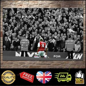 Thierry Henry Arsenal 'Mind The Gap' Canvas Print Wall Art Poster Picture Photo
