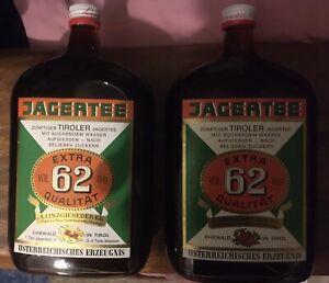 2 Flaschen Tiroler  Jagertee 62, 62%vol, aus Kellerbarauflösung, alte Abfüllung